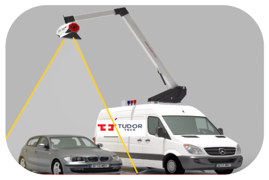 Tudor Tech OCV MK Low dose X-ray mobile scanner for occupied cars and vans.