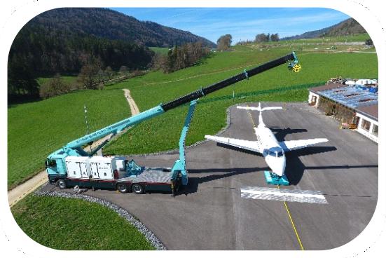 Civil airplane scanner AERIA DVM.