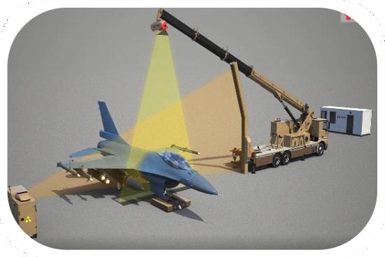 Military airplane scanner AERIA DVMM.