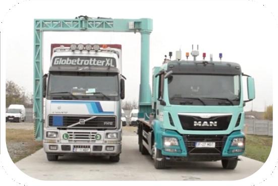 Tudor Tech ML64 Robotic trucks scanners based on dual energy LINAC.